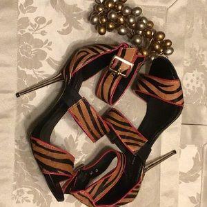 3 Strap High Heel Sandals Woman's 9M